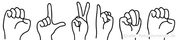 Elvine im Fingeralphabet der Deutschen Gebärdensprache