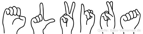 Elvira in Fingersprache für Gehörlose