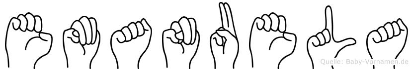 Emanuela in Fingersprache für Gehörlose