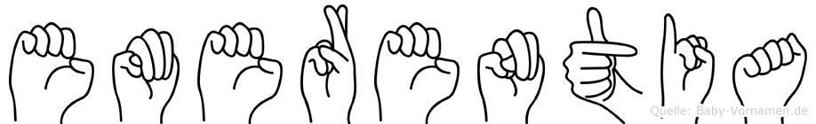Emerentia in Fingersprache für Gehörlose