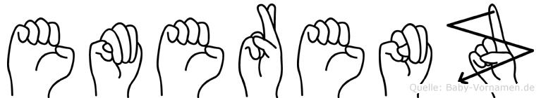 Emerenz im Fingeralphabet der Deutschen Gebärdensprache