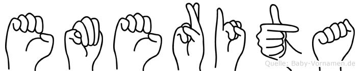 Emerita in Fingersprache für Gehörlose