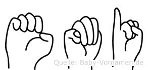 Emi in Fingersprache für Gehörlose