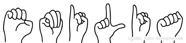 Emilia in Fingersprache für Gehörlose