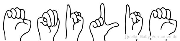 Emilie in Fingersprache für Gehörlose