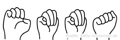 Emma in Fingersprache für Gehörlose