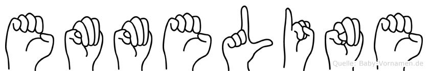 Emmeline im Fingeralphabet der Deutschen Gebärdensprache