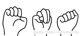 Ena im Fingeralphabet der Deutschen Gebärdensprache