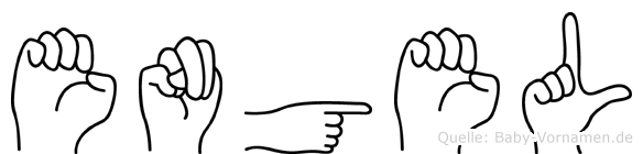 Engel im Fingeralphabet der Deutschen Gebärdensprache