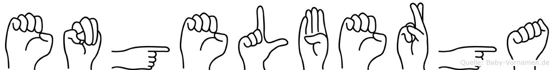 Engelberga in Fingersprache für Gehörlose