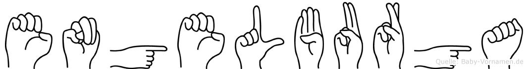 Engelburga im Fingeralphabet der Deutschen Gebärdensprache