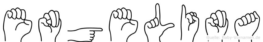 Engelina in Fingersprache für Gehörlose