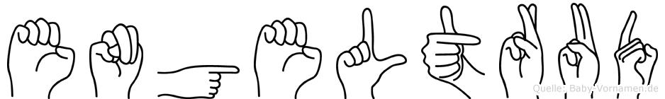 Engeltrud im Fingeralphabet der Deutschen Gebärdensprache
