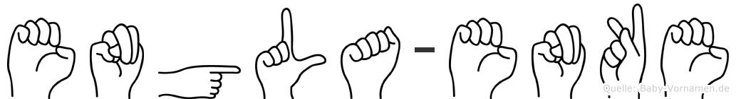 Engla-Enke im Fingeralphabet der Deutschen Gebärdensprache