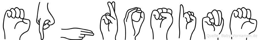Ephrosine im Fingeralphabet der Deutschen Gebärdensprache