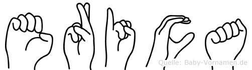 Erica im Fingeralphabet der Deutschen Gebärdensprache