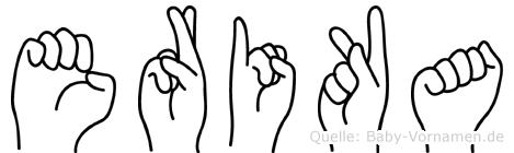 Erika in Fingersprache für Gehörlose