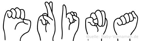 Erina in Fingersprache für Gehörlose