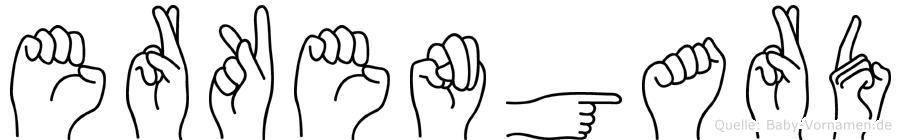 Erkengard im Fingeralphabet der Deutschen Gebärdensprache