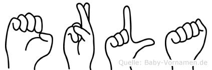 Erla im Fingeralphabet der Deutschen Gebärdensprache