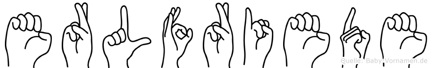Erlfriede im Fingeralphabet der Deutschen Gebärdensprache