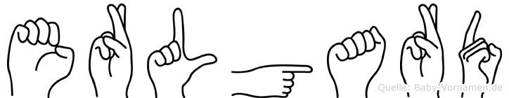 Erlgard im Fingeralphabet der Deutschen Gebärdensprache