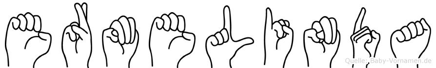Ermelinda in Fingersprache für Gehörlose