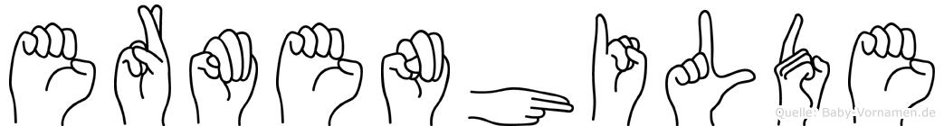 Ermenhilde in Fingersprache für Gehörlose