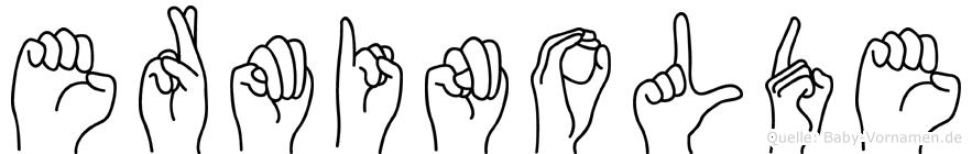 Erminolde im Fingeralphabet der Deutschen Gebärdensprache
