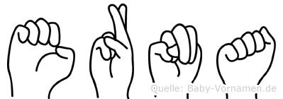 Erna im Fingeralphabet der Deutschen Gebärdensprache