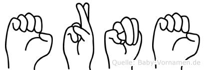 Erne in Fingersprache für Gehörlose