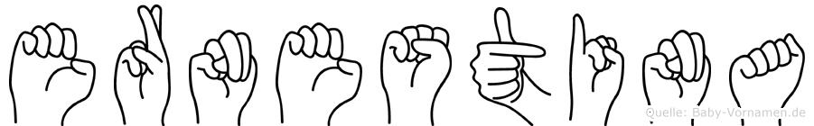 Ernestina im Fingeralphabet der Deutschen Gebärdensprache