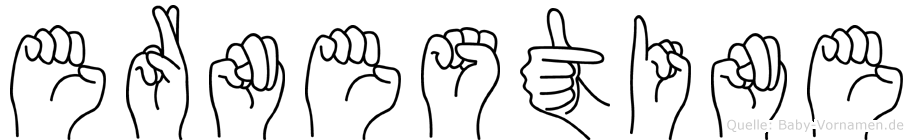 Ernestine im Fingeralphabet der Deutschen Gebärdensprache