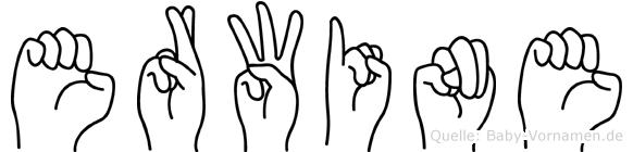 Erwine in Fingersprache für Gehörlose