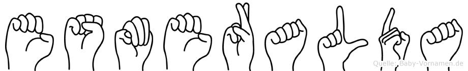 Esmeralda in Fingersprache für Gehörlose