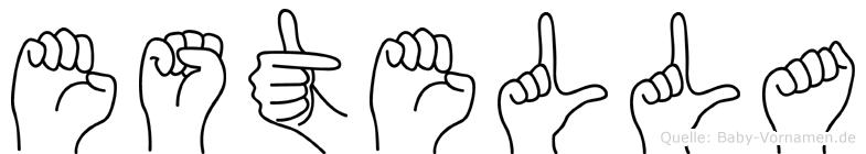 Estella in Fingersprache für Gehörlose