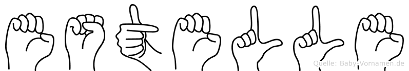 Estelle im Fingeralphabet der Deutschen Gebärdensprache
