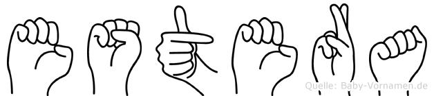 Estera in Fingersprache für Gehörlose