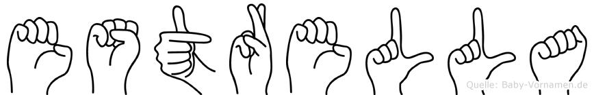 Estrella im Fingeralphabet der Deutschen Gebärdensprache