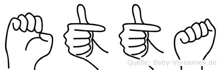 Etta in Fingersprache für Gehörlose
