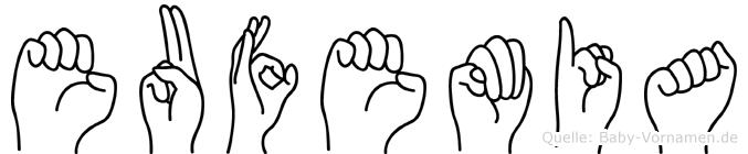 Eufemia in Fingersprache für Gehörlose