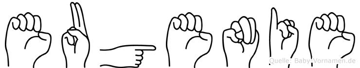 Eugenie in Fingersprache für Gehörlose