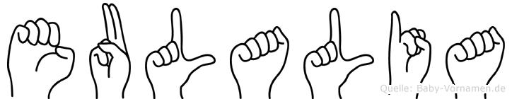 Eulalia in Fingersprache für Gehörlose