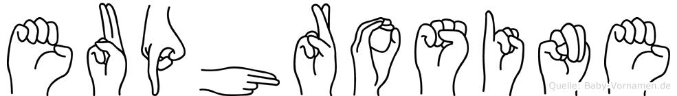 Euphrosine in Fingersprache für Gehörlose