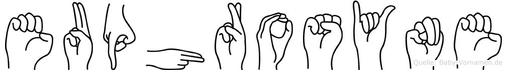 Euphrosyne in Fingersprache für Gehörlose