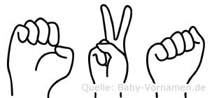 Eva in Fingersprache für Gehörlose