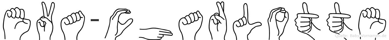 Eva-Charlotte im Fingeralphabet der Deutschen Gebärdensprache