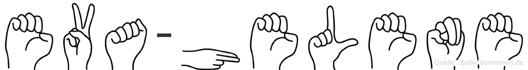 Eva-Helene im Fingeralphabet der Deutschen Gebärdensprache