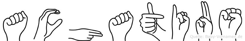 Achatius im Fingeralphabet der Deutschen Gebärdensprache