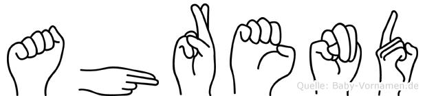 Ahrend in Fingersprache für Gehörlose